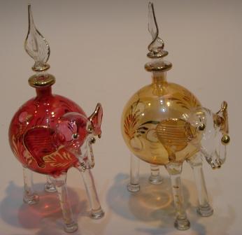 5e690808 Egyptian Pyrex Glass Mouthblown perfume bottles